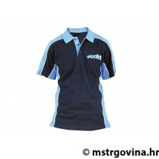 TWO-COLOUR POLO SHIRT BLUE/L.BLUE