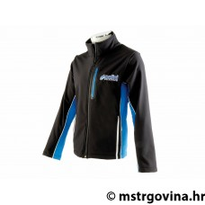 Softshell jacket Polini EVO men's black/light plava/i veličina S