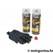 Skidajući lak Dupli-Color Sprayplast set transparentna sjajna 2x400ml