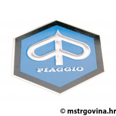 Truba poklopac emblem / badge Piaggio 42mm ravna do glue za Piaggio Ape, Vespa Gl, Rally