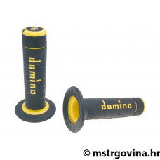 Ručke volana set Domino A020 off-road black-yellow