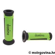 Ručke volana set Domino A350 on-road green-black open end grips