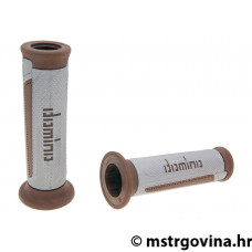 Ručke volana set Domino A350 on-road silvergrey-brown open end grips