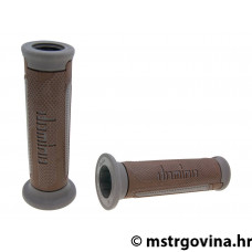 Ručke volana set Domino A350 on-road brown-grey open end grips