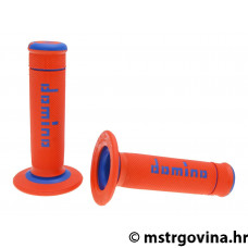 Ručke volana set Domino A190 off-road orange-blue