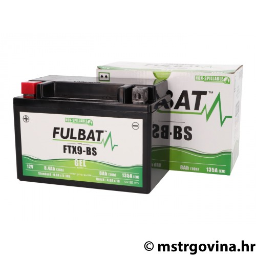 Battery Fulbat gel cell FTX9-BS SLA