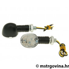 Žmigavci set M10 navoj LED Drop crna/i