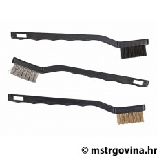 Brush set 180mm steel, brass, plastični - 3 kom
