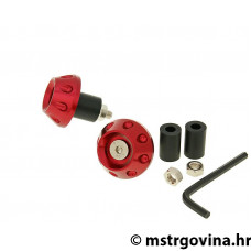 Utezi volana anti-vibration ravni 13.5 / 17.5mm (sa adapterom) - crvena/i
