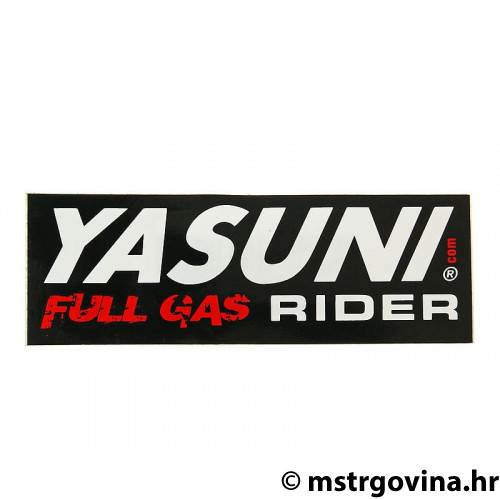 Naljepnica Yasuni Full Gas Rider 110x38mm